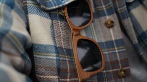 Light Brown Wooden Sunglasses