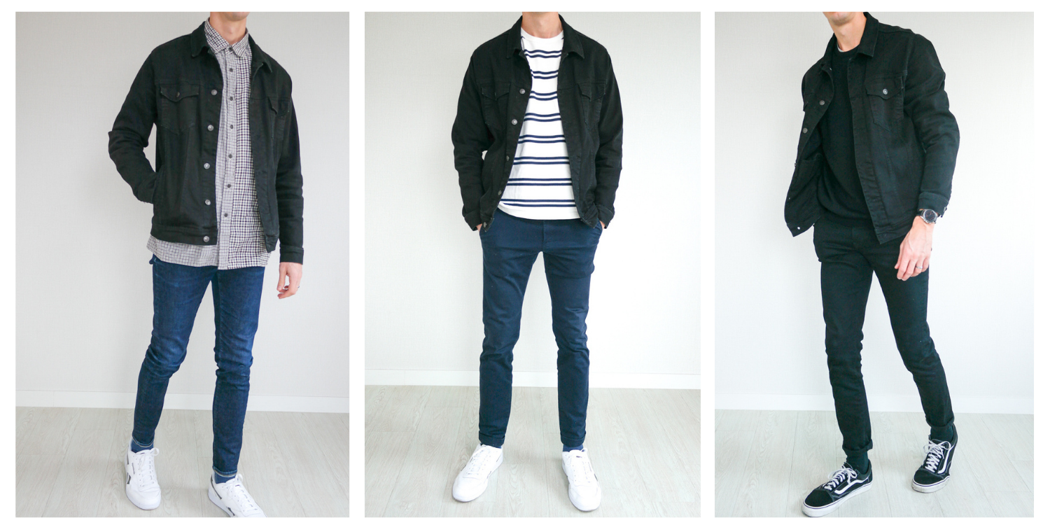 How to Wear a Black Denim Jacket
