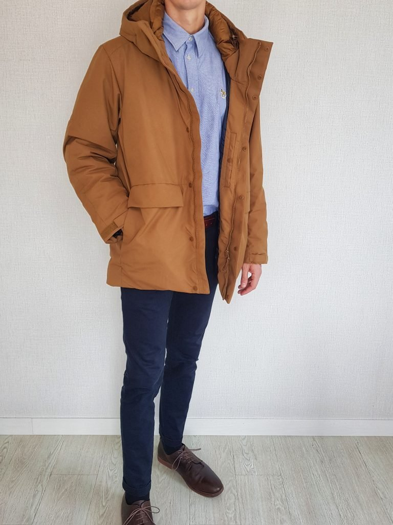 Parka with chinos oxford shirt