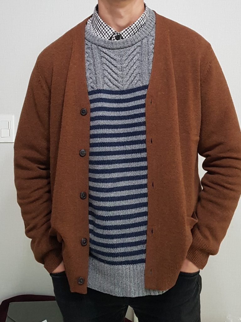 Brown Cardigan With Sweater