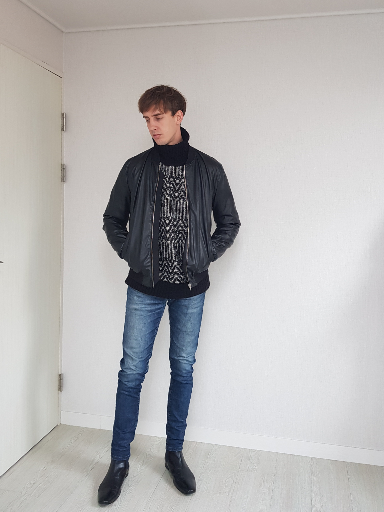 Chelsea Boots Leather Leather Jacket