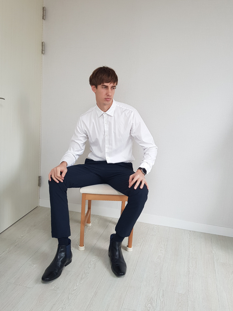 Chelsea Boots Trousers and shirt