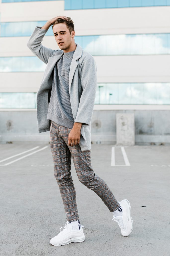 Grey Check Pants