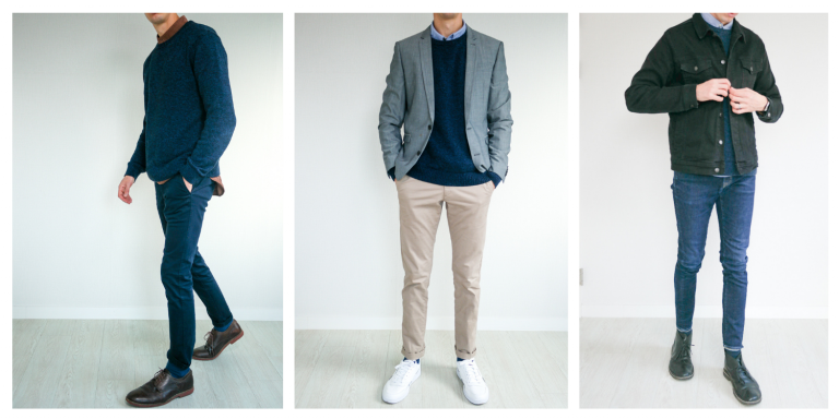 What to Wear With a Navy Sweater
