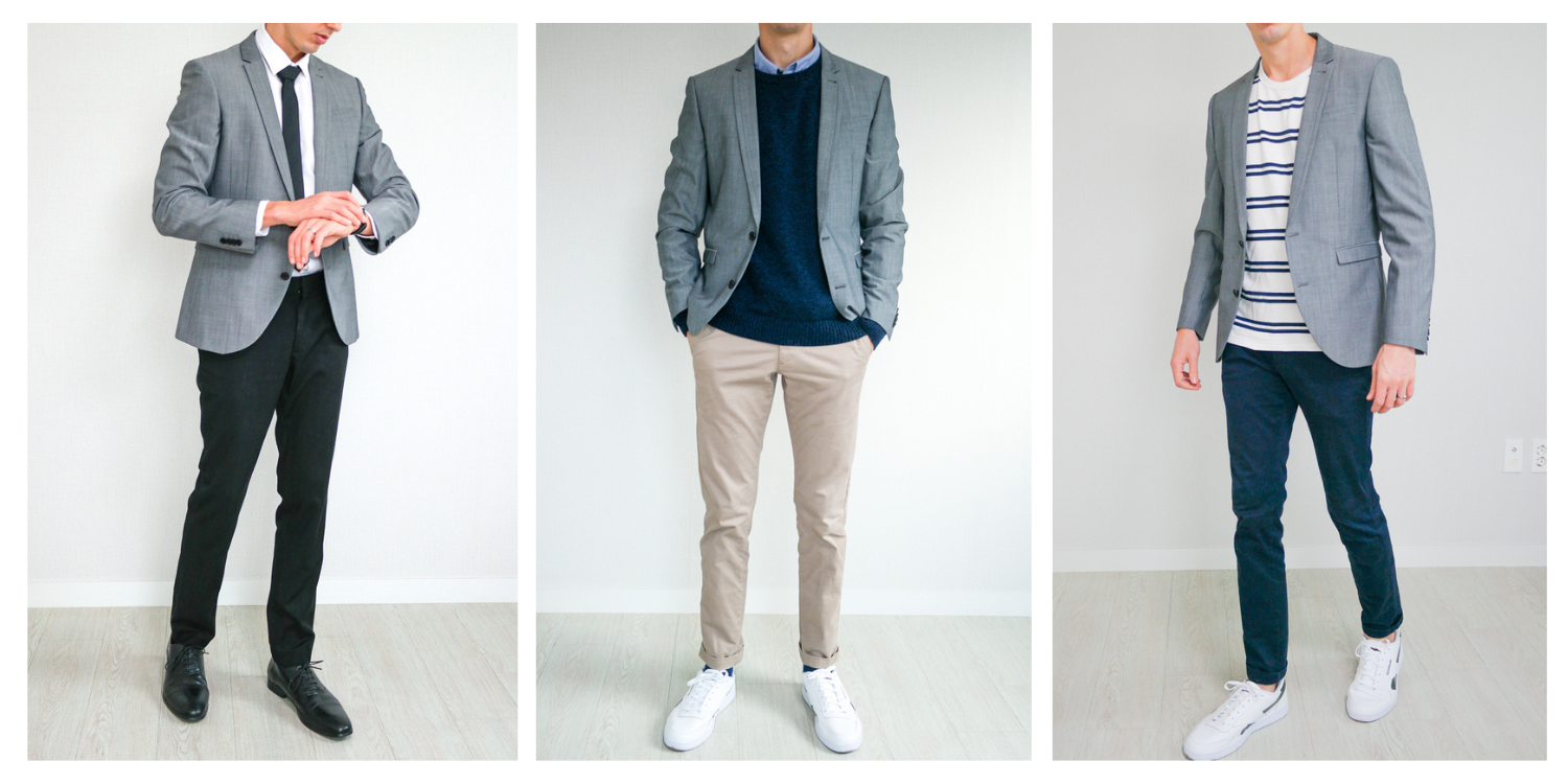 Here's What to Wear With a Gray Blazer for a Classic Smart Casual Look