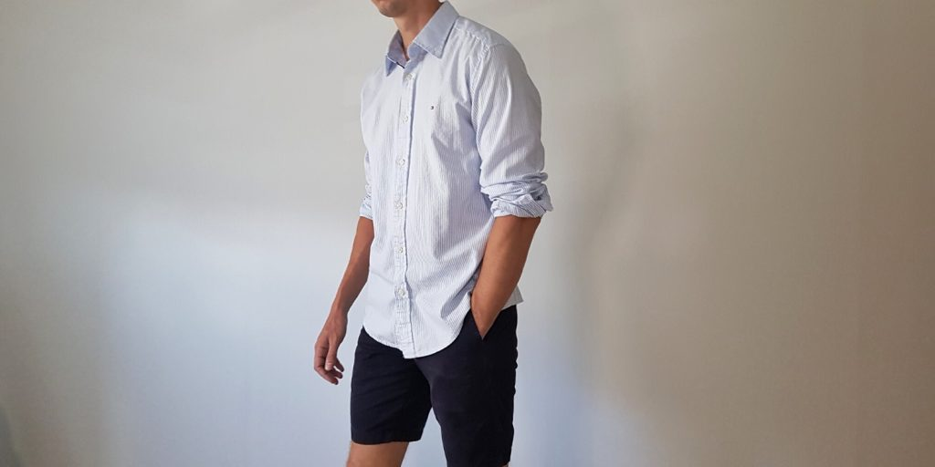 How to wear shorts with shirt